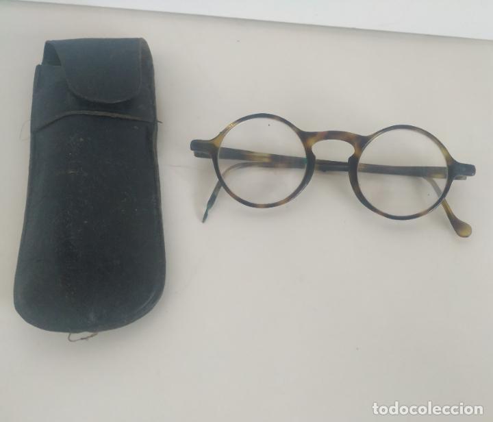 ANTIGUAS GAFAS TIPO QUEVEDO DE LA ÓPTICA COTTET, BARCELONA-MADRID. AÑOS 30. CON FUNDA (Antigüedades - Técnicas - Instrumentos Ópticos - Gafas Antiguas)