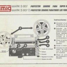 Antigüedades: EUMIG MARK S 807 PROYECTOR SONORO PARA PELÍCULAS SUPER 8MM.. Lote 170553060