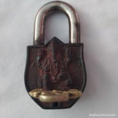 Antigüedades: CANDADO ANTIGUO EN BRONCE. Lote 216411025