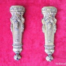 Antigüedades: 2 EMBELLECEDORES EN BRONCE MACIZO NUMERADAS F13310 PARA MUEBLE ,PIEZAS CLÁSICAS Y DE GRAN BELLEZA. Lote 216438423