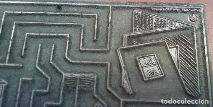 Antigüedades: ESCASO TAPÓN O PLACA DE IMPRENTA, PASATIEMPOS REVISTA AÑOS 40. ILUSTRACION FIRMADA WALTER SHEPHERD - Foto 5 - 216514901