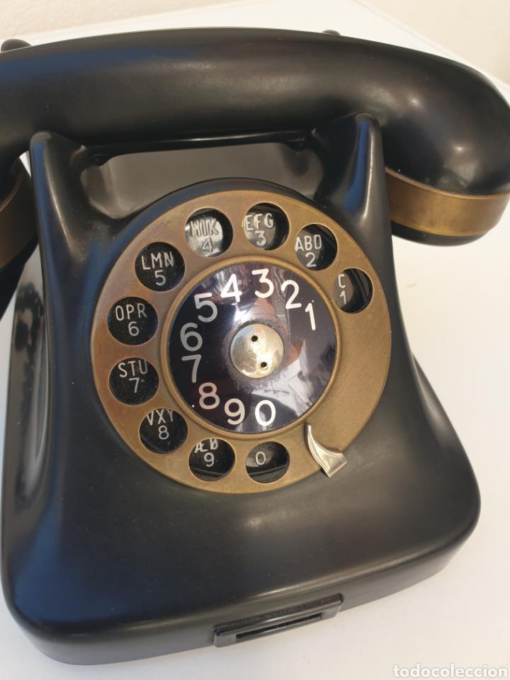 Teléfonos: ANTIGUO TELÉFONO KRISTIAN KIRKS. EN LATÓN Y BAQUELITA. MUY BIEN CONSERVADO Y FUNCIONANDO. - Foto 2 - 216549386