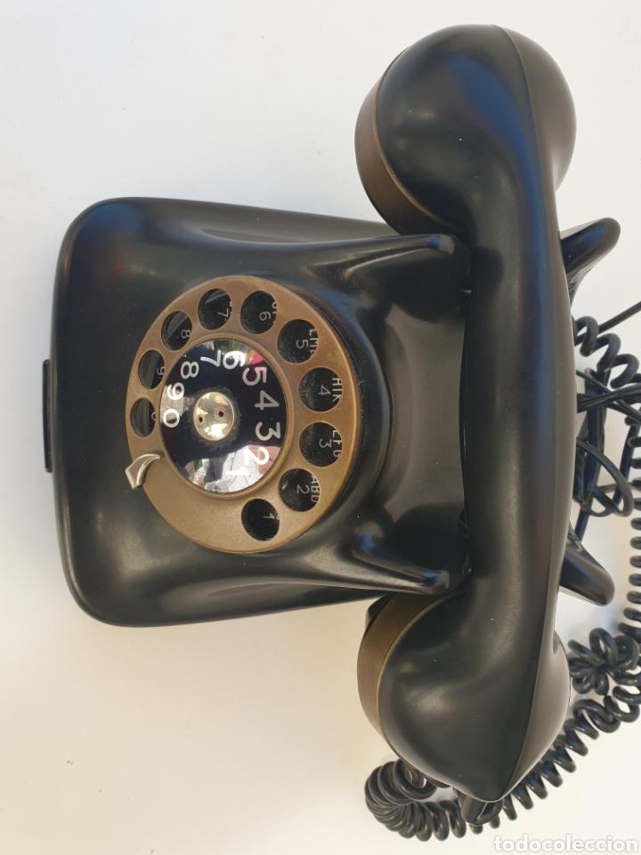 Teléfonos: ANTIGUO TELÉFONO KRISTIAN KIRKS. EN LATÓN Y BAQUELITA. MUY BIEN CONSERVADO Y FUNCIONANDO. - Foto 4 - 216549386