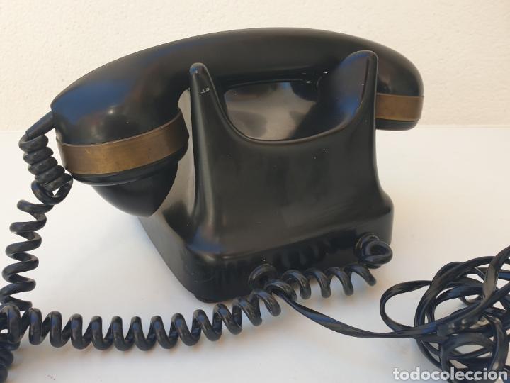 Teléfonos: ANTIGUO TELÉFONO KRISTIAN KIRKS. EN LATÓN Y BAQUELITA. MUY BIEN CONSERVADO Y FUNCIONANDO. - Foto 5 - 216549386