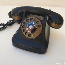Teléfonos: ANTIGUO TELÉFONO KRISTIAN KIRKS. EN LATÓN Y BAQUELITA. MUY BIEN CONSERVADO Y FUNCIONANDO.. Lote 216549386