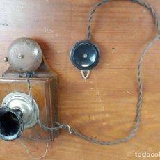 Teléfonos: ANTIGUO TELEFONO INTERCOMUNICADOR DE MADERA Y BAQUELITA. Lote 216582813