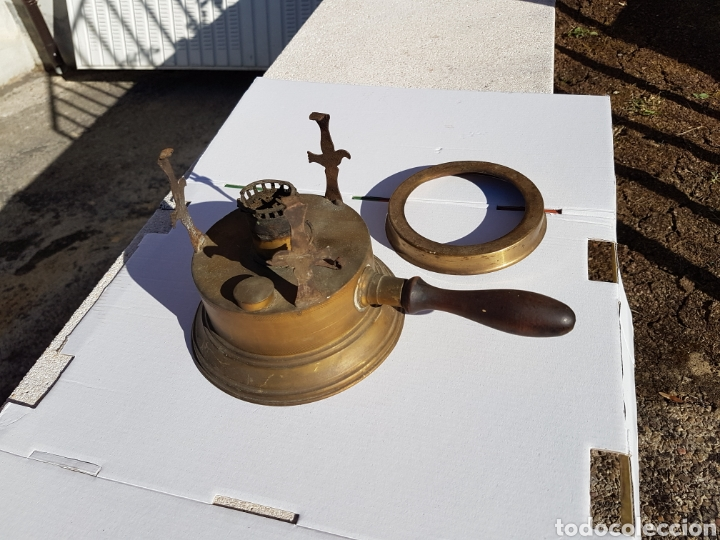 Antigüedades: Infiernillo quemador de barco antiguo 1915 aprox - Foto 6 - 216625783