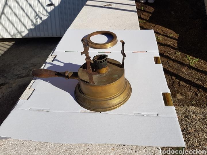 Antigüedades: Infiernillo quemador de barco antiguo 1915 aprox - Foto 7 - 216625783