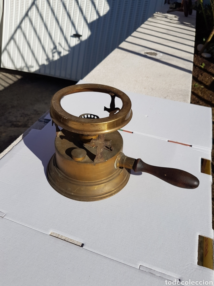 INFIERNILLO QUEMADOR DE BARCO ANTIGUO 1915 APROX (Antigüedades - Antigüedades Técnicas - Marinas y Navales)