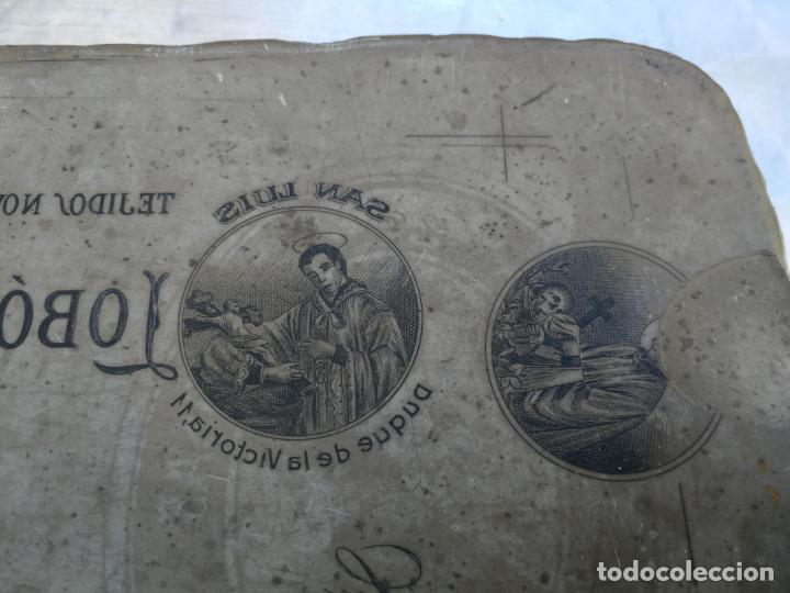 Antigüedades: PIEDRA LITOGRÁFICA, ETIQUETA LEBON HERMANOS SASTRERIA VALLADOLID PLANCHA PULIDA IMPRENTA - Foto 3 - 216692146