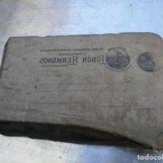 Antigüedades: PIEDRA LITOGRÁFICA, ETIQUETA LEBON HERMANOS SASTRERIA VALLADOLID PLANCHA PULIDA IMPRENTA. Lote 216692146