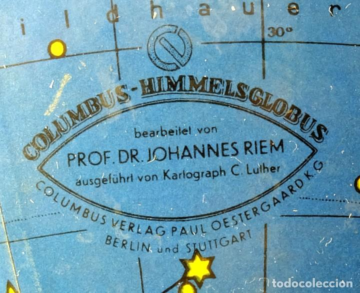 Antigüedades: 1959ca - Antiguos Globo terráqueo y celeste - Estilo Bauhaus/Art decó - 19cm. de diámetro - Foto 2 - 216705871