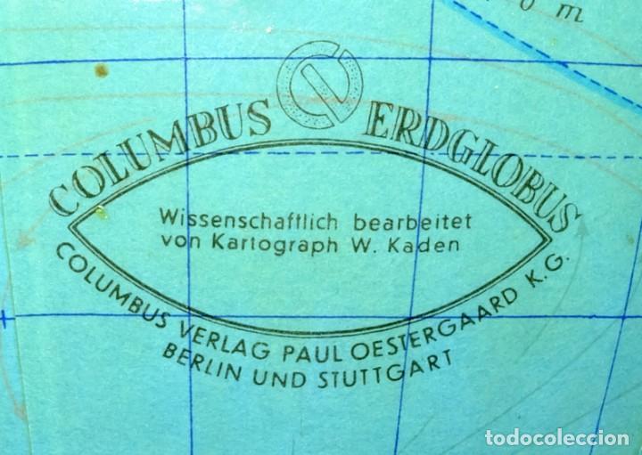 Antigüedades: 1959ca - Antiguos Globo terráqueo y celeste - Estilo Bauhaus/Art decó - 19cm. de diámetro - Foto 3 - 216705871