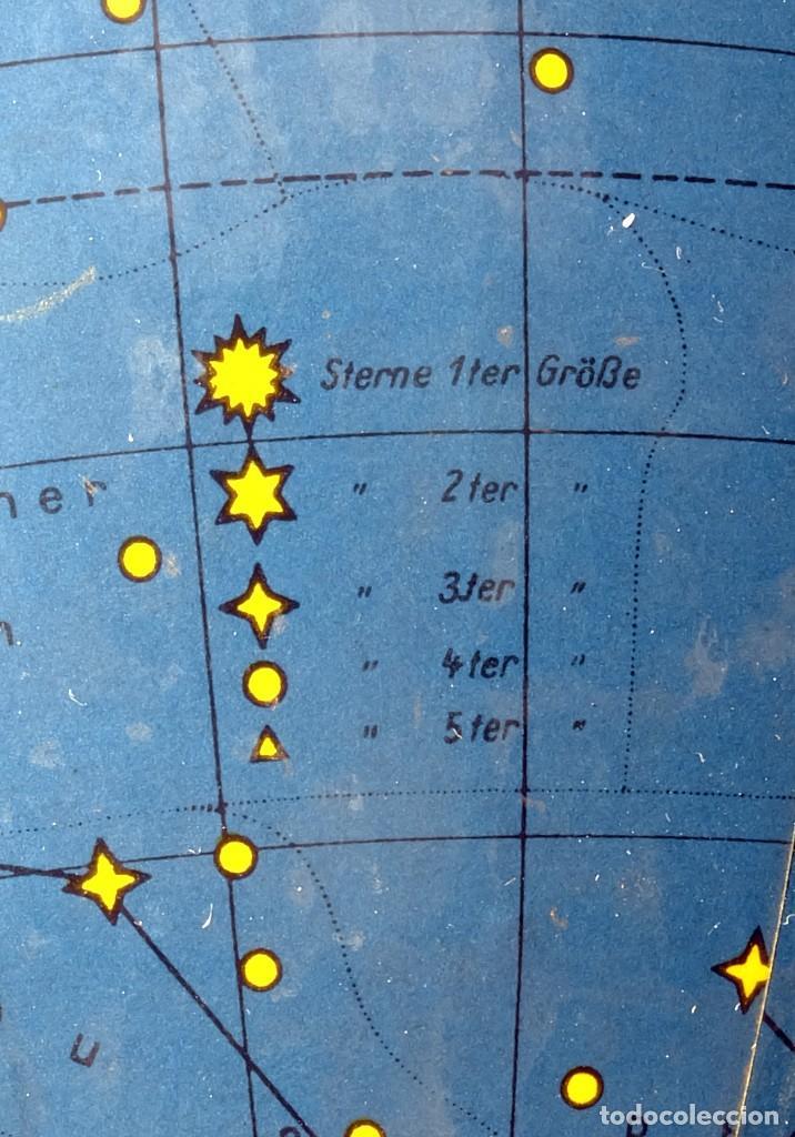 Antigüedades: 1959ca - Antiguos Globo terráqueo y celeste - Estilo Bauhaus/Art decó - 19cm. de diámetro - Foto 5 - 216705871