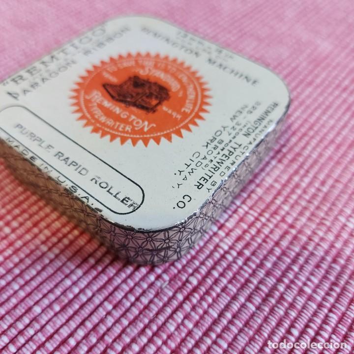Antigüedades: Antigua CAJA CINTA MAQUINA ESCRIBIR **REMTICO-Paragon---REMIGTON 13 mm ** PERFECTA-Rara*Caja --USA - Foto 3 - 216744567
