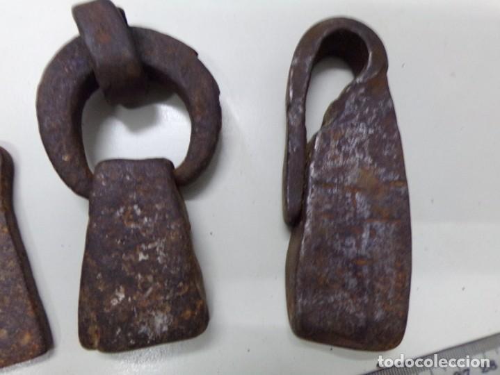 Antigüedades: antigua coleccion ponderales catalanes pesas para bascula balanza en muy buen estado con sus marcas - Foto 4 - 216748625