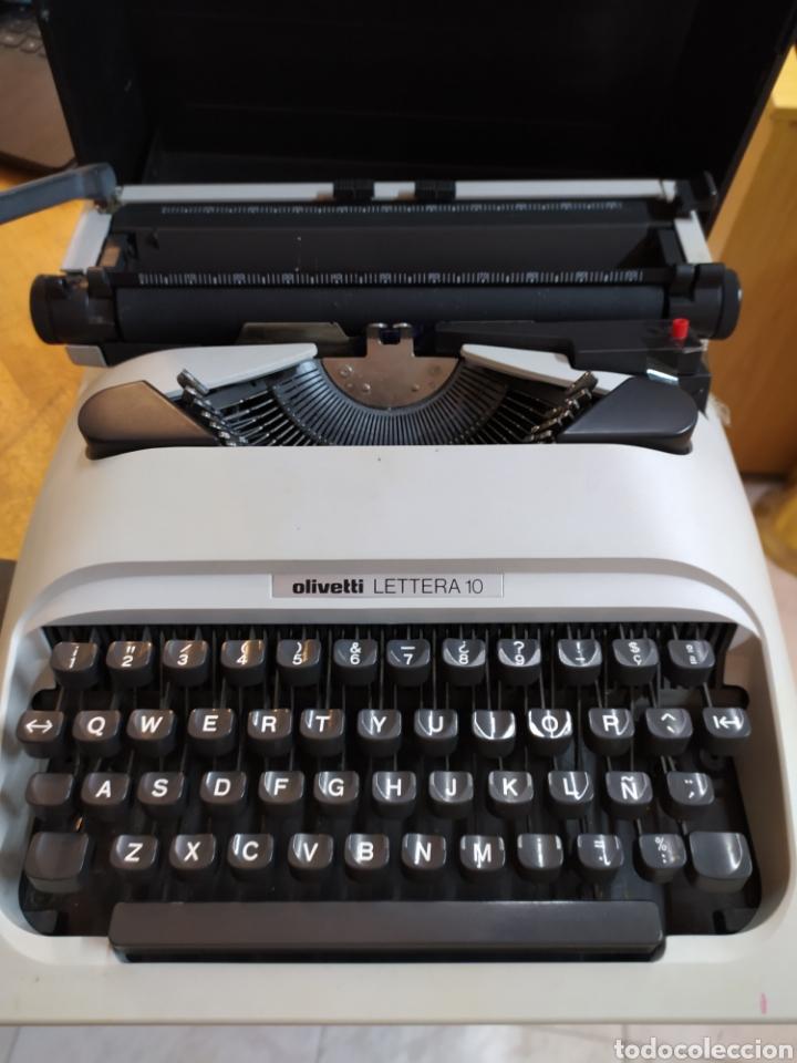 MAQUINA OLIVETTI LETTERA 10. MUY BUENA CON SU CAJA. (Antigüedades - Técnicas - Máquinas de Escribir Antiguas - Olympia)