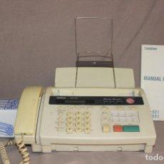 Teléfonos: TELÉFONO FAX BROTHER FAX-931 CON REPUESTO BOBINAS DE PAPEL-MANUAL-FUNCIONA. Lote 216796665