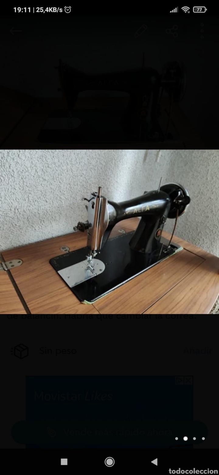 Antigüedades: Máquina coser alfa con mesa - Foto 2 - 216805943
