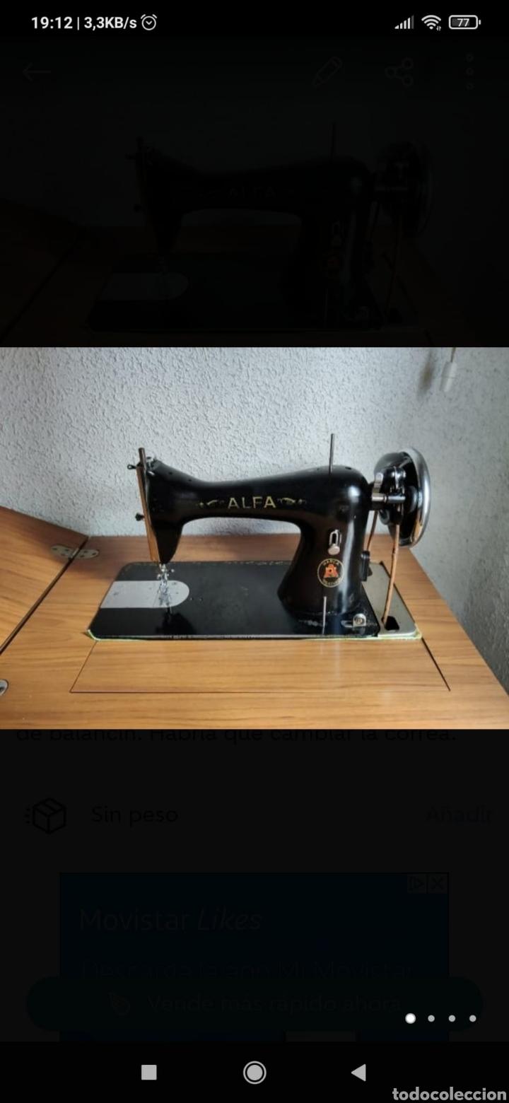 MÁQUINA COSER ALFA CON MESA (Antigüedades - Técnicas - Máquinas de Coser Antiguas - Alfa)