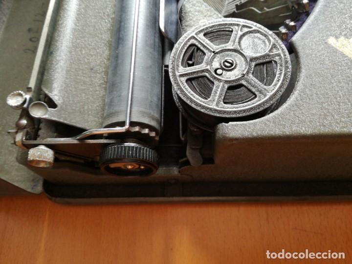 Antigüedades: Máquina de escribir portatil hermes baby en su maletin, años 30 - Foto 5 - 216869633
