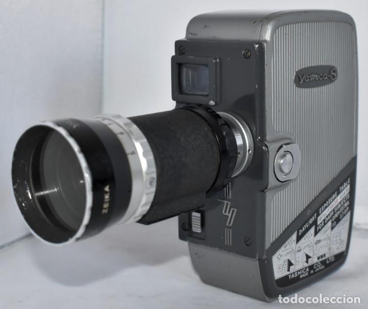 Antigüedades: EXCELENTE CAMARA DE CINE A CUERDA, 8 mm..YASHICA 8 +ZOOM LENS ..MUY BUEN ESTADO..FUNCIONA - Foto 3 - 216896463