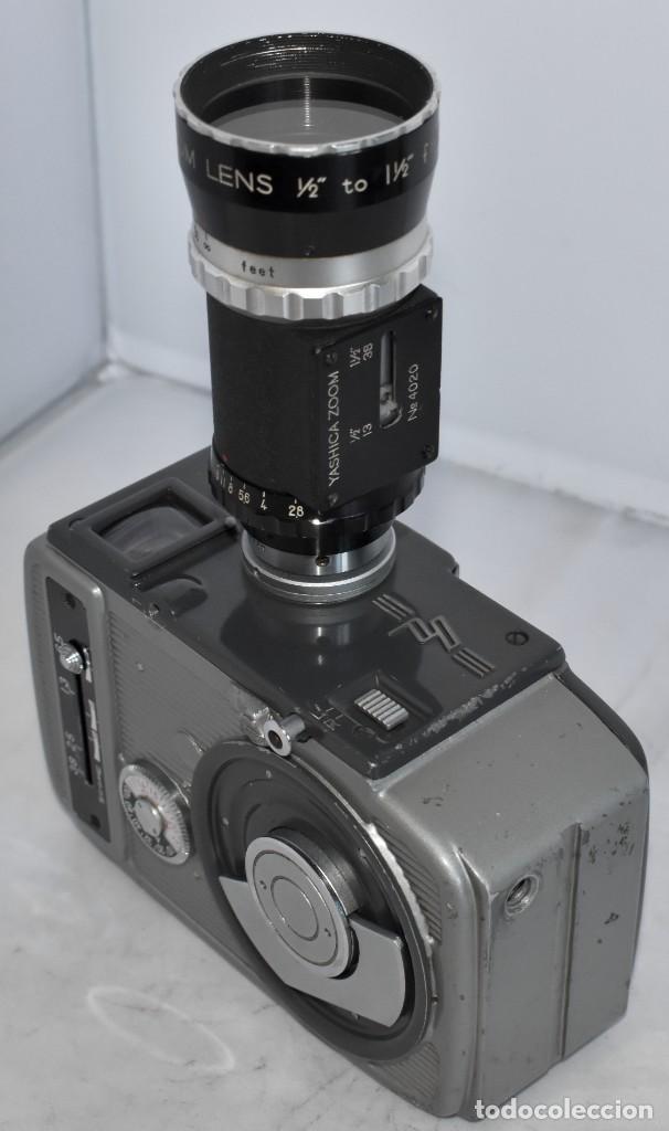 Antigüedades: EXCELENTE CAMARA DE CINE A CUERDA, 8 mm..YASHICA 8 +ZOOM LENS ..MUY BUEN ESTADO..FUNCIONA - Foto 4 - 216896463
