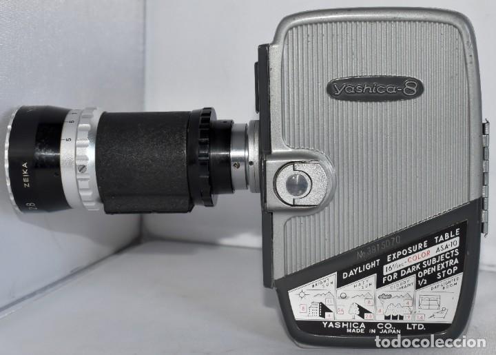 Antigüedades: EXCELENTE CAMARA DE CINE A CUERDA, 8 mm..YASHICA 8 +ZOOM LENS ..MUY BUEN ESTADO..FUNCIONA - Foto 6 - 216896463