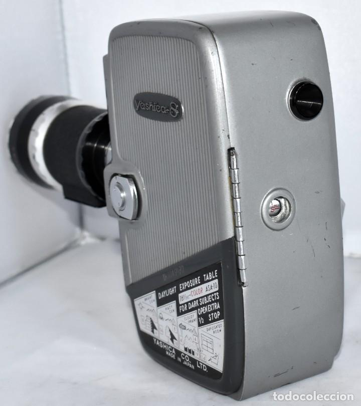 Antigüedades: EXCELENTE CAMARA DE CINE A CUERDA, 8 mm..YASHICA 8 +ZOOM LENS ..MUY BUEN ESTADO..FUNCIONA - Foto 7 - 216896463