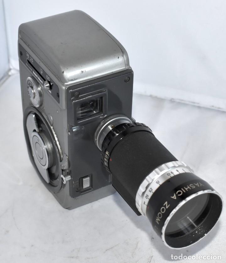 Antigüedades: EXCELENTE CAMARA DE CINE A CUERDA, 8 mm..YASHICA 8 +ZOOM LENS ..MUY BUEN ESTADO..FUNCIONA - Foto 8 - 216896463