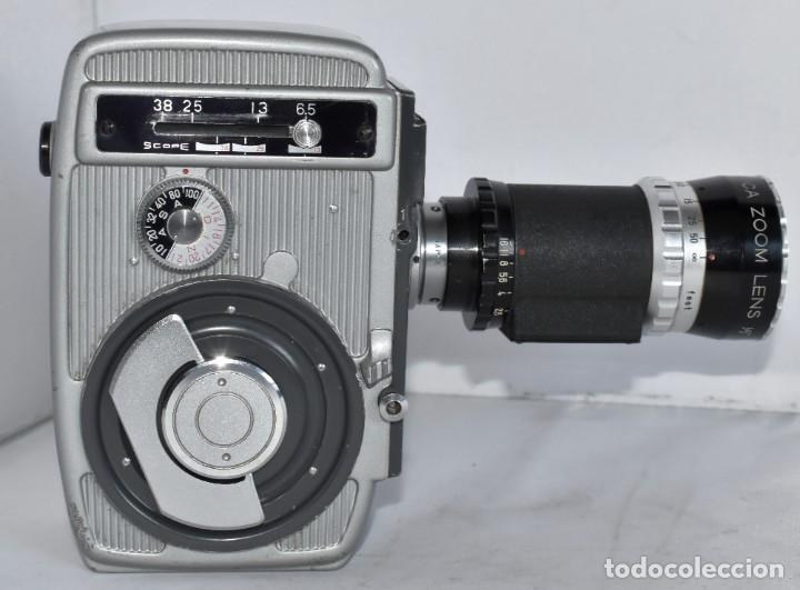 Antigüedades: EXCELENTE CAMARA DE CINE A CUERDA, 8 mm..YASHICA 8 +ZOOM LENS ..MUY BUEN ESTADO..FUNCIONA - Foto 14 - 216896463
