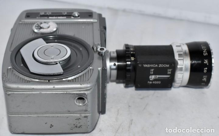 Antigüedades: EXCELENTE CAMARA DE CINE A CUERDA, 8 mm..YASHICA 8 +ZOOM LENS ..MUY BUEN ESTADO..FUNCIONA - Foto 16 - 216896463