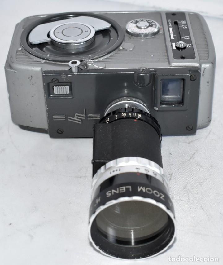 Antigüedades: EXCELENTE CAMARA DE CINE A CUERDA, 8 mm..YASHICA 8 +ZOOM LENS ..MUY BUEN ESTADO..FUNCIONA - Foto 17 - 216896463
