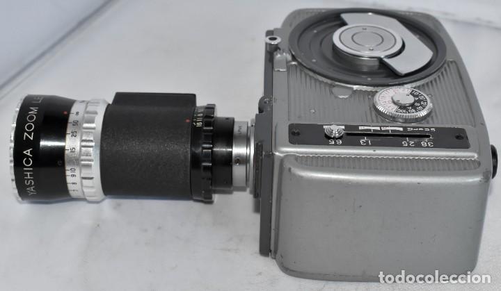 Antigüedades: EXCELENTE CAMARA DE CINE A CUERDA, 8 mm..YASHICA 8 +ZOOM LENS ..MUY BUEN ESTADO..FUNCIONA - Foto 18 - 216896463