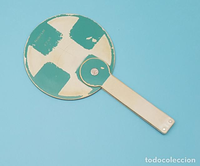 PALETA TREN DISPUESTO TECNOPLAS 62 68 25 CM X 14 CM USADA, FERROCARRIL RENFE (Antigüedades - Técnicas - Varios)