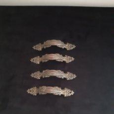 Antigüedades: LOTE DE CUATRO TIRADORES DE MUEBLES O CAJONES METALORFE MADE IN SPAIN.HERRAJES PARA MUEBLES.. Lote 216957105