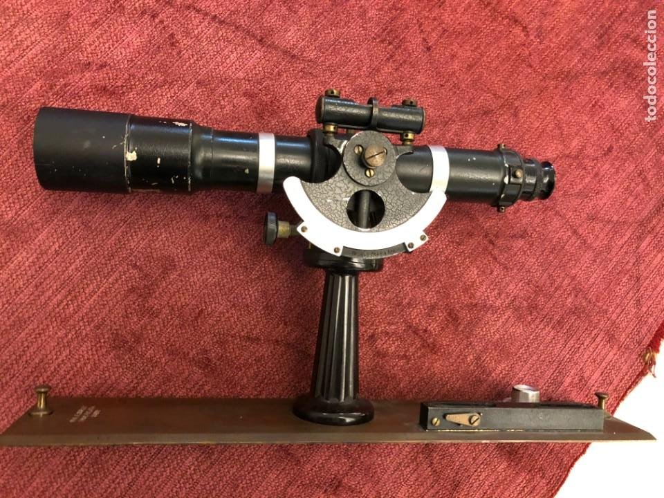 VISOR TOPOGRAFICO ALIDADA, W. & LE BURLEY, NUEVA YORK - LATÓN - 1906 (Antigüedades - Técnicas - Otros Instrumentos Ópticos Antiguos)