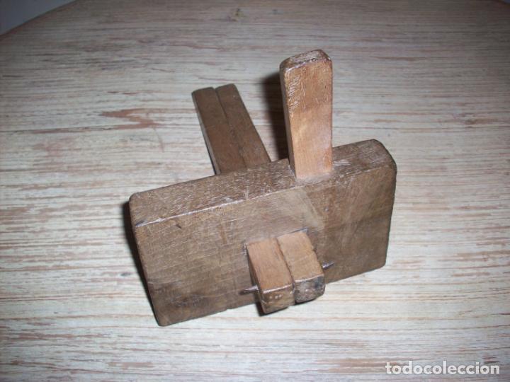Antigüedades: ANTIGUO GRAMIL DOBLE DE CARPINTERO , EN MADERA . - Foto 6 - 216983278