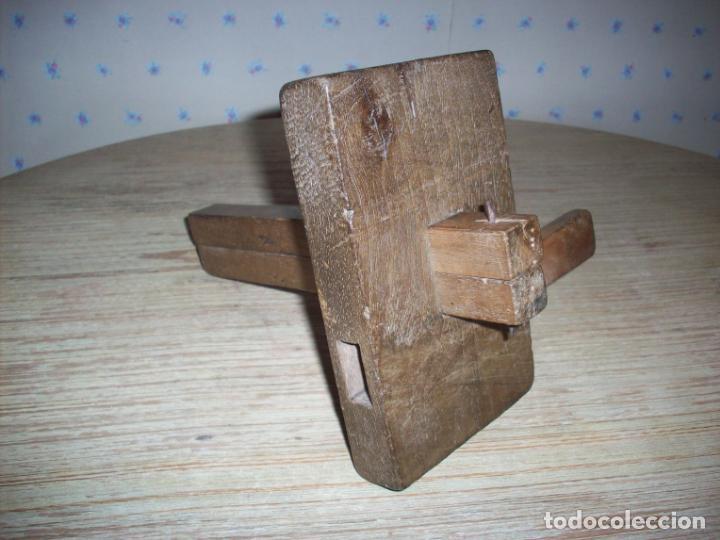 ANTIGUO GRAMIL DOBLE DE CARPINTERO , EN MADERA . (Antigüedades - Técnicas - Herramientas Profesionales - Carpintería )