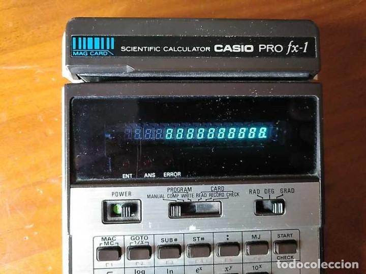 Antigüedades: CALCULADORA CASIO PRO FX-1 SCIENTIFIC CALCULATOR AÑOS 70 FUNCIONANDO CON LECTOR DE TARJETAS MAGNETIC - Foto 3 - 216992010