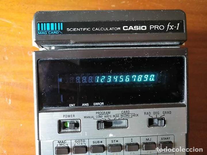 Antigüedades: CALCULADORA CASIO PRO FX-1 SCIENTIFIC CALCULATOR AÑOS 70 FUNCIONANDO CON LECTOR DE TARJETAS MAGNETIC - Foto 10 - 216992010