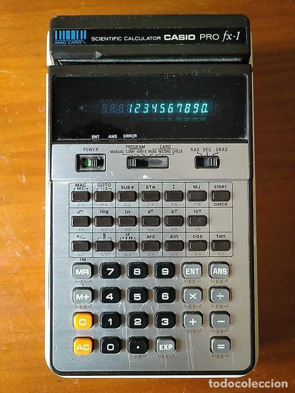 Antigüedades: CALCULADORA CASIO PRO FX-1 SCIENTIFIC CALCULATOR AÑOS 70 FUNCIONANDO CON LECTOR DE TARJETAS MAGNETIC - Foto 20 - 216992010