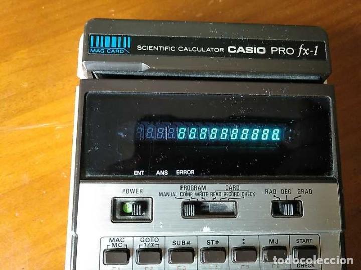 Antigüedades: CALCULADORA CASIO PRO FX-1 SCIENTIFIC CALCULATOR AÑOS 70 FUNCIONANDO CON LECTOR DE TARJETAS MAGNETIC - Foto 24 - 216992010