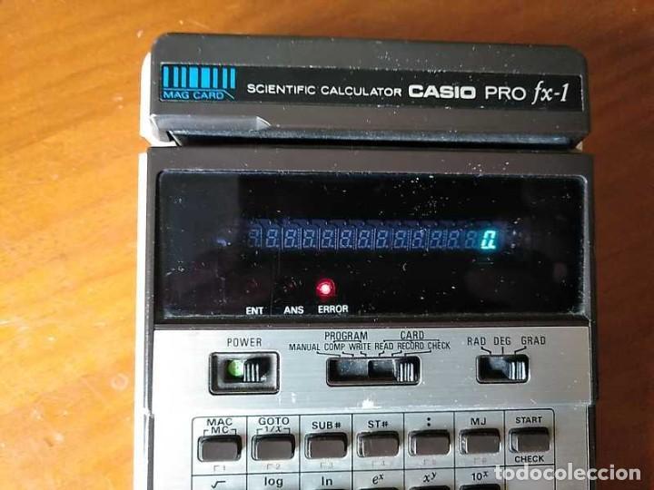 Antigüedades: CALCULADORA CASIO PRO FX-1 SCIENTIFIC CALCULATOR AÑOS 70 FUNCIONANDO CON LECTOR DE TARJETAS MAGNETIC - Foto 33 - 216992010