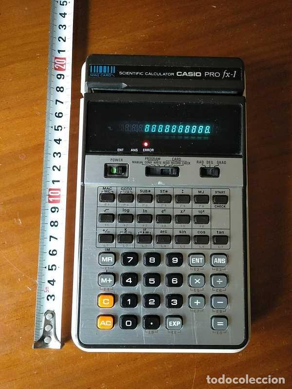 Antigüedades: CALCULADORA CASIO PRO FX-1 SCIENTIFIC CALCULATOR AÑOS 70 FUNCIONANDO CON LECTOR DE TARJETAS MAGNETIC - Foto 42 - 216992010