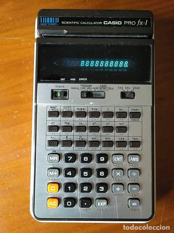 Antigüedades: CALCULADORA CASIO PRO FX-1 SCIENTIFIC CALCULATOR AÑOS 70 FUNCIONANDO CON LECTOR DE TARJETAS MAGNETIC - Foto 46 - 216992010