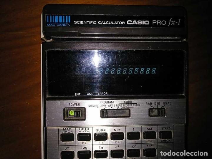 Antigüedades: CALCULADORA CASIO PRO FX-1 SCIENTIFIC CALCULATOR AÑOS 70 FUNCIONANDO CON LECTOR DE TARJETAS MAGNETIC - Foto 48 - 216992010
