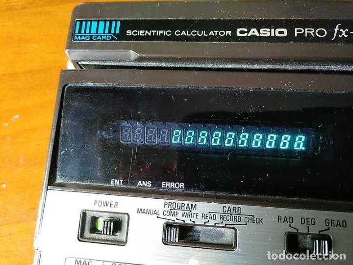 Antigüedades: CALCULADORA CASIO PRO FX-1 SCIENTIFIC CALCULATOR AÑOS 70 FUNCIONANDO CON LECTOR DE TARJETAS MAGNETIC - Foto 49 - 216992010