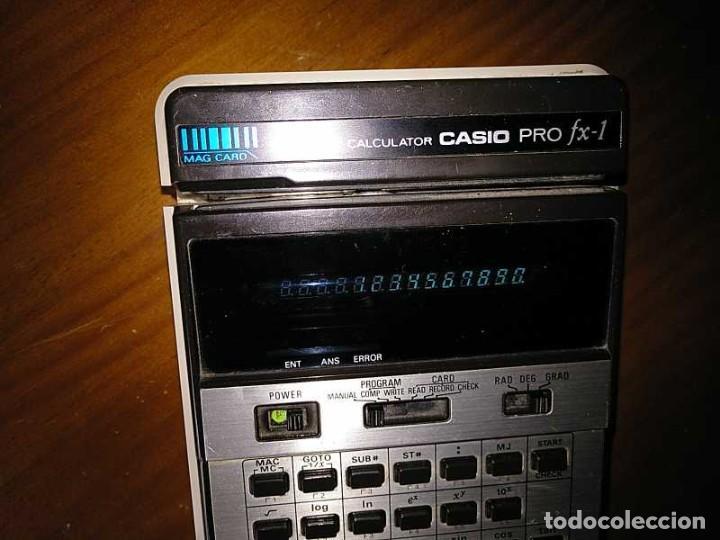 Antigüedades: CALCULADORA CASIO PRO FX-1 SCIENTIFIC CALCULATOR AÑOS 70 FUNCIONANDO CON LECTOR DE TARJETAS MAGNETIC - Foto 86 - 216992010
