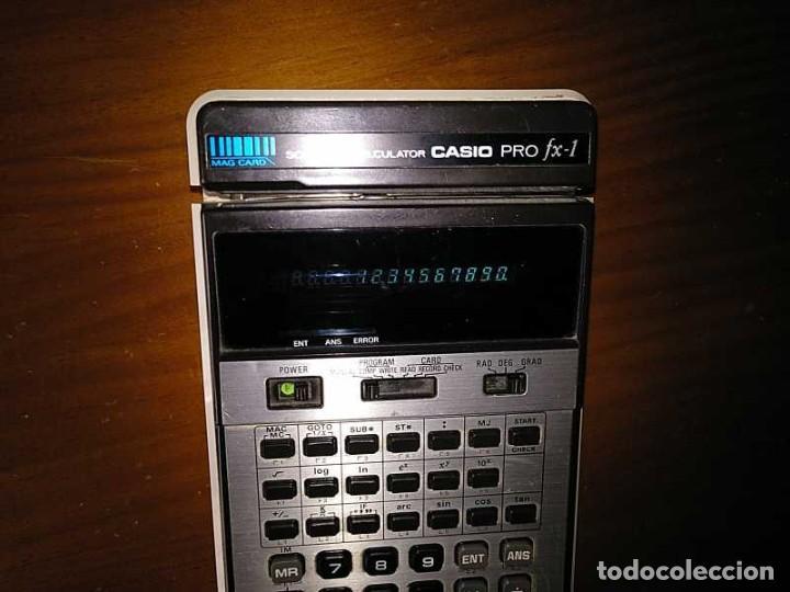Antigüedades: CALCULADORA CASIO PRO FX-1 SCIENTIFIC CALCULATOR AÑOS 70 FUNCIONANDO CON LECTOR DE TARJETAS MAGNETIC - Foto 88 - 216992010